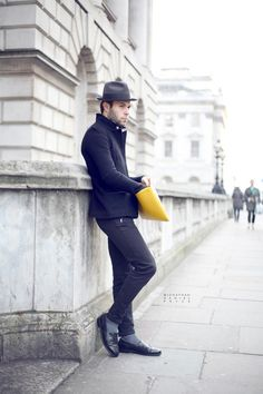 The fit, the hat, the yellow…all working.  #menswear #fashion #streetstyle