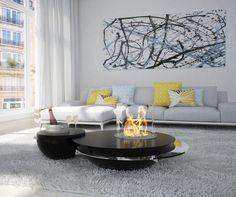 Openfire modern fire shows living high gloss black