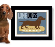 Dachshund Print Wiener Dog Personalized with Dogs Name