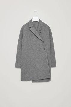 COS image 4 of Cocoon wrap coat in Dark Grey