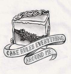 cake tattoo for my fave customer Matt! @Stacey Blanchard