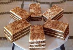 Vaníliakrémes szelet Hungarian Desserts, Tiramisu, Tapas, Food And Drink, Dessert Recipes, Cookies, Ethnic Recipes, Advent, Kochen