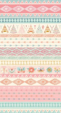 Modern Fabric-Teepee and Flower Cotton Fabric-Modern Quilting Fabric-Teepees-Arrows-Flowers-Butterflies-Blue-Brown-Pink To purchase more yardage you Vintage Flowers Wallpaper, Flower Wallpaper, Wallpaper Backgrounds, Iphone Wallpaper, Cartoon Wallpaper, Dream Catcher Pink, Dream Catchers, Bd Design, Planner Bullet Journal