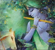 Hare Krishna ॐ Krishna Drawing, Krishna Painting, Madhubani Painting, Krishna Tattoo, Radha Krishna Wallpaper, Lord Krishna Images, Radha Krishna Pictures, Hare Krishna, Krishna Radha