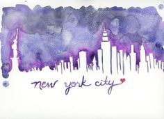 New York City Skyline Print - All proceeds go to Hurricane Sandy Relief. $20.00, via Etsy.