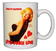 'Marilyn Monroe - Let's Make Love'. Ceramic mug.