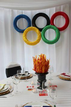 Torch centerpiece, Inspiration for Mobella Events, www.mobellaevents.com #olympics #centerpiece