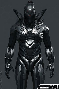 CA01 by UltraVD, cyberpunk, futuristic suit, future warrior