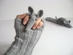 Soooo cute!  Original Design Cute Armadillos  gloveslong by muratyusuf on Etsy, $45.00