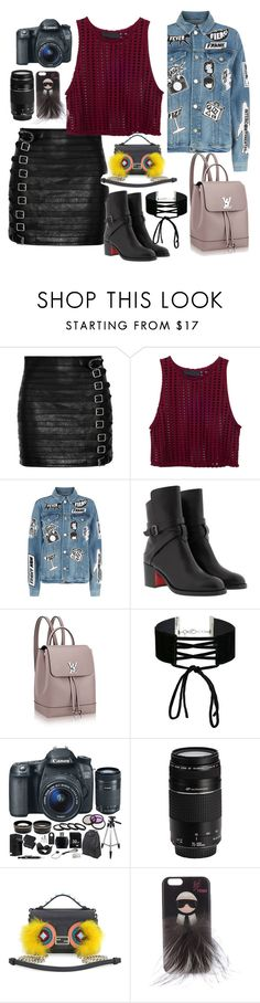 """new day..j"" by hippiefashion ❤ liked on Polyvore featuring Gucci, Frame, Christian Louboutin, Miss Selfridge, Eos, Canon and Fendi"