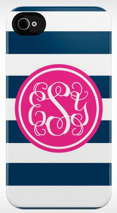 Personalized stripe & script mono iphone case by daninotes on Etsy, $55.00