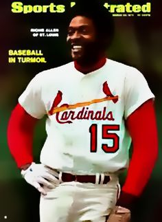 March, 23 1970 Richie Allen of The Cardinals. A great slugger.