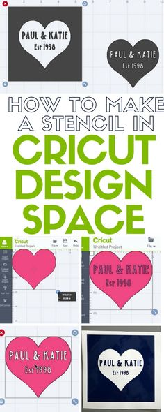 Learn how to make a stencil in Cricut Design Space to be cut out on a Cricut Machine. An easy DIY craft tutorial idea in both video and written tutorial.