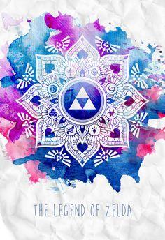 The Legend of a Zelda Mandala by ever-so-excited.d... on @DeviantArt