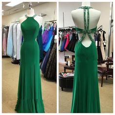 Halter Prom Dress,Backless Prom Dress,Beaded Prom Dress,Fashion Prom Dress,Sexy Party Dress, New Style Evening Dress