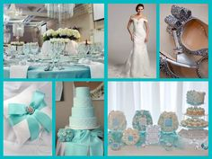 Tiffany theme wedding Tiffany Blue Party, Tiffany Theme, Cake Topper Tutorial, Cake Toppers, Color Combinations, Favorite Color, Fondant, Daisy Duck, Classy