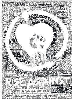 25 Typographic Poster Designs For Inspiration rise against heart typographic poster Music Love, Music Is Life, Rock Music, Foo Fighters Nirvana, Typographic Poster, Band Posters, Music Posters, Women In History, Music Quotes