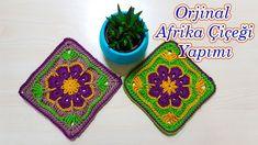 afrika çiçeği motifi nasıl yapılır