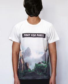 Pray for Paris 'mountains' dip print t-shirt (limited 50 prints) Pray For Paris, Cool Tees, Alternative Fashion, Dip, Menswear, Mountains, Boys, Shirt, Prints