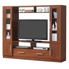 Large modern wood tv stands awesome wooden tv unit in pune Modern Tv Cabinet, Tv Cabinet Design, Tv Wall Design, Corner Tv Cabinets, Tv Unit Furniture, Wood Furniture, Modern Tv Units, Living Room Tv Unit Designs, Living At Home
