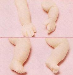 Manitas y piececitos de bebe paso a paso