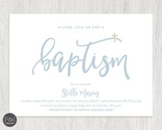 Baby Boy or Girl Baptism  Christening by paperandinkdesignco