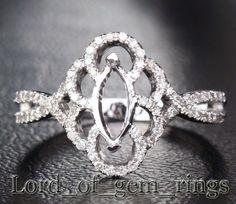 marquise ring setting | Marquise Cut 14k White Gold 25ct Diamond Ring Settings | eBay