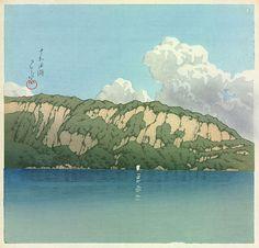 Lake Towada by Kawase Hasui, 1930 (published by Kato Junji) Japanese Water, Japanese Art, Lake Towada, Japan Watercolor, Japanese Colors, Japanese Painting, Landscape Prints, Woodblock Print, Prints For Sale
