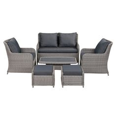 Hidcote 6 Piece Garden Lounge Set - The Cotswold Company Garden Furniture, Outdoor Furniture Sets, Outdoor Decor, Lounge, Home Decor, Outdoor Garden Furniture, Airport Lounge, Drawing Rooms, Decoration Home