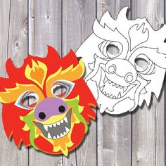 Celebrate Chinese New Year with these free printable masks! Sorry, that year is over now!