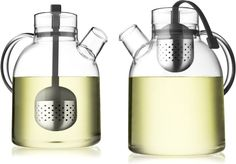 Norm Tea Kettle by Norm Architects : Built in stainless steel steeper with a silicon string. $79 #Tea_Kettle #Norm_Architects