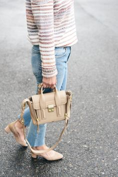 Phillip Lim Mini Pashli Leather Satchel in cashew Phillip Lim Bag, Cold Shoulder Sweater, Cloth Bags, Leather Satchel, Mini Bag, Rebecca Minkoff, Straw Bag, Outfit Of The Day, Nordstrom