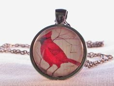 Check out this item in my Etsy shop https://www.etsy.com/listing/245430524/pendant-necklace-red-bird-cardinal