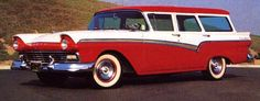 1957 Ford Station Wagon. If this wagon were black and white it would be perfect