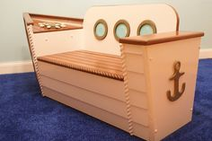 Adamzoriginals Nautical Toybox: The detailed design of this handmade nautical toybox ($595) make it an extraspecial playroom addition. Your kids can use it as a cool storage spot for toys, hang on the bench, or set sail for a game of make believe upon the high seas!