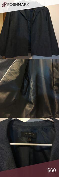 Talbots linen  jacket Talbots Blue linen Jacket Talbots Jackets & Coats Blazers