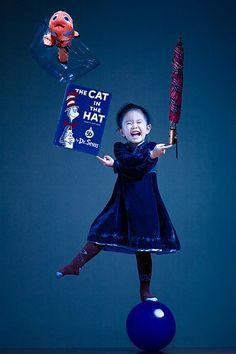 Super cute Dr. Seuss picture idea for your child - creative photoshop - this photographer (Jason Lee) is a genius!