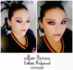 ¡Este es un lindo maquillaje que te quedará muy bien con un vestido escotado sensual y accesorios grandes y llamativos! Asesórate conmigo 3108019196 ¡William Herrera <3 ! #Look #MakeUp #MAC #Belleza #Caleña #CaliCo #Colombia #Maquillaje #Estilo #Cali #Estilista #Peluquería #Profesional