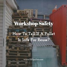 Learn everything about pallet safety before starting your next DIY project with pallet wood and know how to check if your pallet wood is safe to reuse! Safety is our main goal!