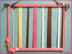 DIY picture frame hairbow holder