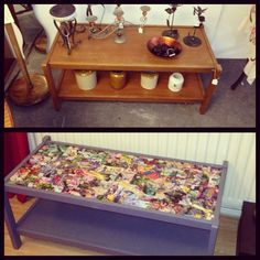 Victorian Meets The Orient Shabby Chic Upcycled Coffee Table With Colourful  Fabric And Grey Paint | Shabby, Victorian And Met