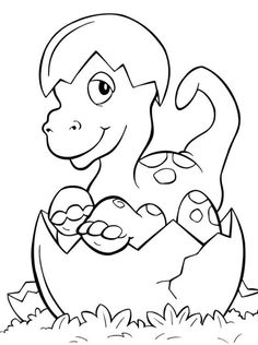 Cute Dinosaur Coloring Pages Dinosaur Coloring Pages With Facts Baby Cute Hatching Printable Colouring Book Egg Of Animals Jurassic Park Triceratops Rex Realistic Spinosaurus Template Baby Coloring Pages, Dinosaur Coloring Pages, Animal Coloring Pages, Free Coloring, Coloring Pages For Kids, Coloring Books, Dinosaur Crafts, Baby Dinosaurs, Digi Stamps