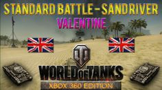 This is a Standard Battle taking place at Sand River map with Valentine tank in World of Tanks: Xbox 360 Edition, won with 1110 experience.