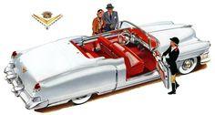 Plan59 :: Classic Car Art :: Vintage Ads :: 1953 Cadillac Eldorado