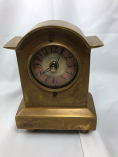 Excited to share the latest addition to my #etsy shop: Mantel Shelf Clock Timeworks Inc. Clock Co. Berkeley California In Brass