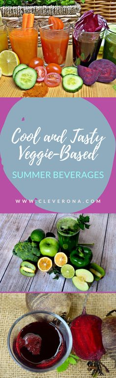 Keep your body cool while consuming something healthier. These cool and tasty veggie-based summer beverages are what you should try to stay healthier and more energized this season and the next. Canned Juice, Summer Beverages, Yummy Food, Tasty, Refreshing Drinks, Kombucha, Drink Recipes, How To Stay Healthy, Smoothies