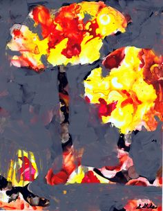Trees in Hell acrylic on yupo by Sharon Giles Crafts For Kids, Arts And Crafts, Acrylic Paintings, Trees, Craft Ideas, Abstract, Artwork, Crafts For Children, Summary