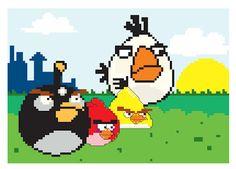 Gráfico em ponto cruz Angry Birds!