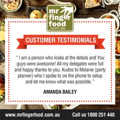 That is why here at www.MrFingerfood.com.au, we make sure there is not a single detail of your party, not even a little is left out!  Let us help you impress your guests! For enquiries and bookings, call our party planner Nancy at 1000-230-380 (FREE CALL), Mondays to Sunday, 8AM-8PM. #cateringfingerfood #cateringservices #professionalcatering #cateringinAustralia