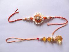 Indian Rakhi Festival Raksha Bandhan Pearl Rakhi Crystal Stone Friendship Rakhi #IndianBrand #Friendship